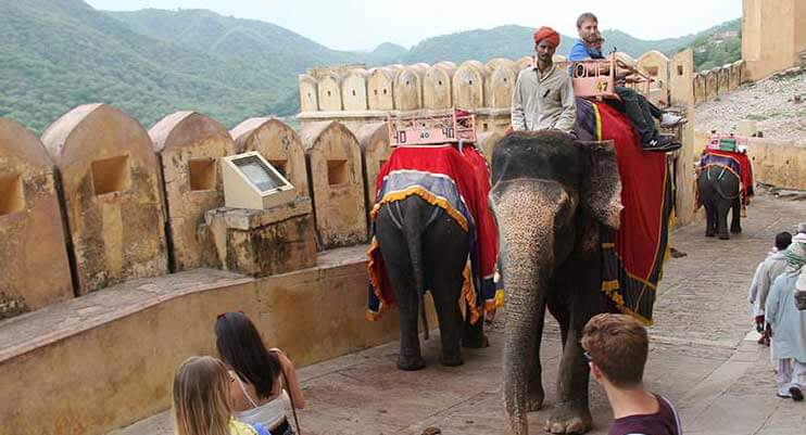 elephant ride, rajasthan